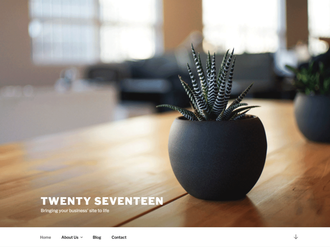 wordpress twenty seventeen motyw